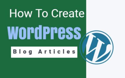How To create word press blog articles
