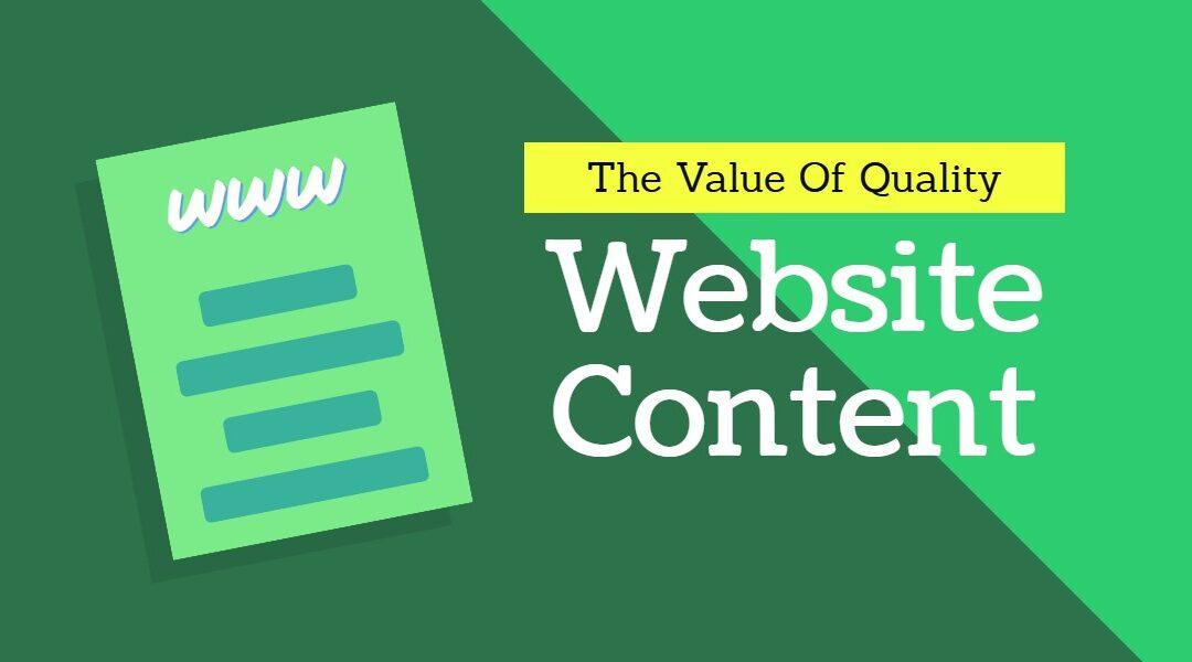 Quality Website Content